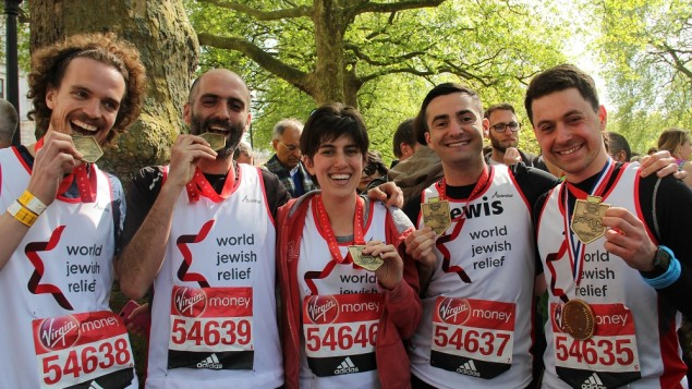 World Jewish Relief's runners