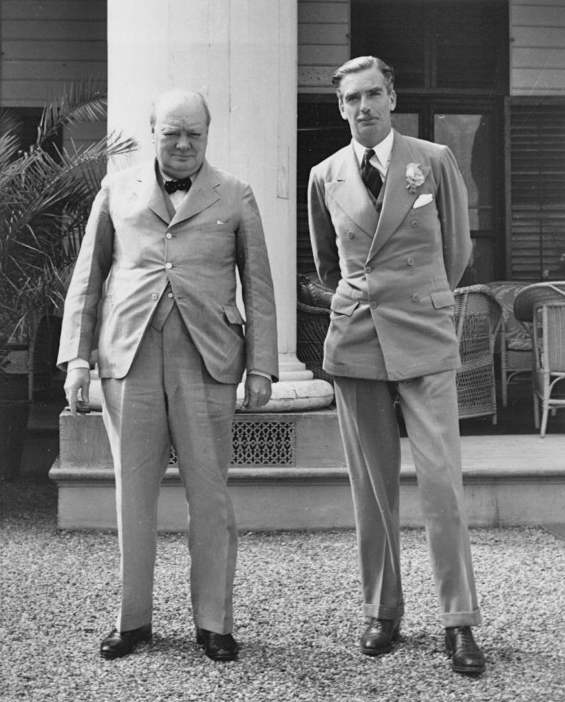 UK Prime Minister Winston Churchill (l) and Foreign Affairs Secretary Anthony Eden in 1943. (Public Domain)