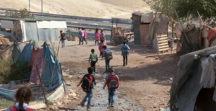 Illustrative Schoolchildren in the West Bank Bedouin village of Khan al Ahmar