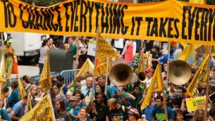 A view of the 2014 People's Climate March in New York City. JTA