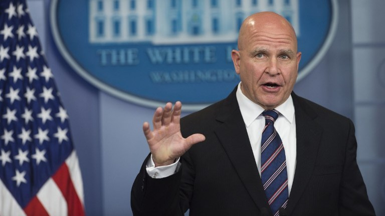 US National Security Adviser H. R. McMaster speaks during a press briefing at the White House on May 16, 2017. (AFP Photo/Saul Loeb)
