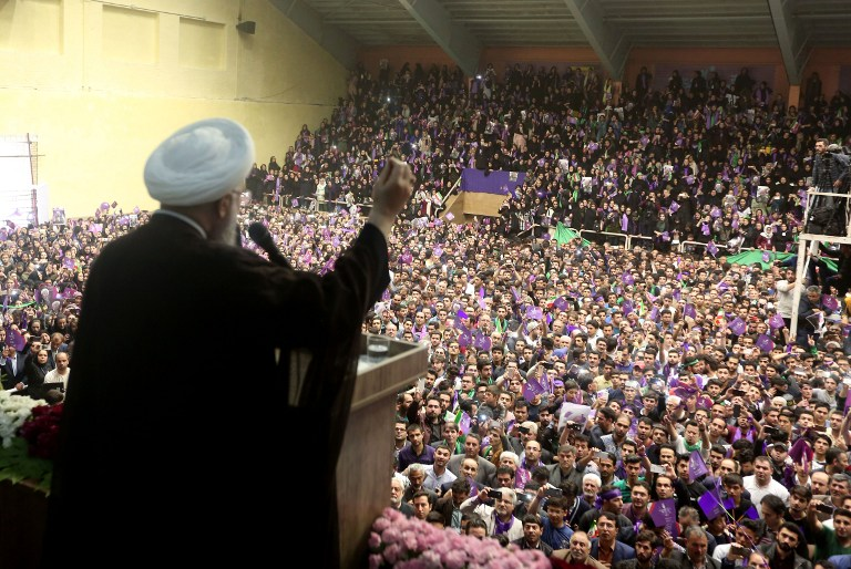 Iranians Flock To Polling Stations In Presidential Elections
