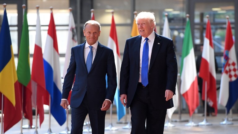 At NATO summit, European leaders reach out to an unpredictable Trump