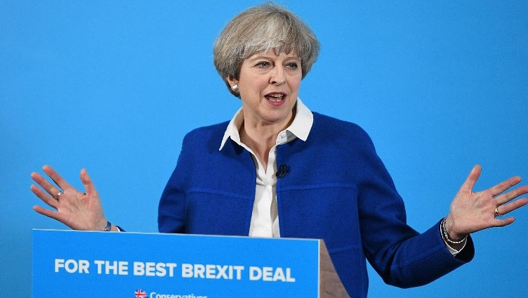 PM May's lead falls to 3 pct points