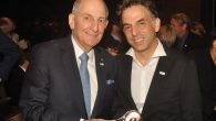 Charles Bronfman and Keret, at last week's Bronfman Prize event here. Courtesy Jonathan Bloom