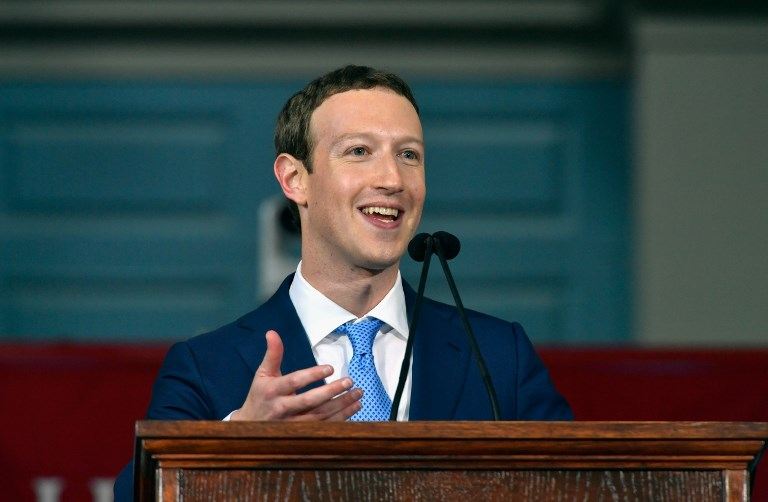 Facebook's Mark Zuckerberg sets out political stall