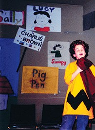 "Alan Aisenberg when he starred in ""You're a Good Man, Charlie Brown"" at the JCC."