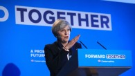 Theresa May launching the Conservative Manifesto