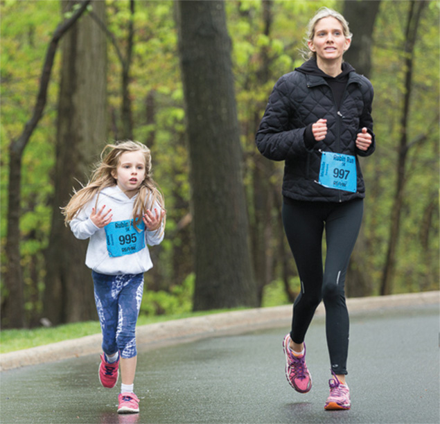A mother and daughter run together last year.