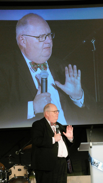 Sir Eric Pickles addressing guests at the dinner