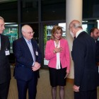 General Searby, Nick Moore-Searson, Elise Moore-Searson and Saed Sarsur greeting Prince Michael of Kent on arrival.