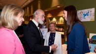 Prince Michael of Kent meeting Veronika Morozova with Pat Moore-Searson and Elise Moore-Searson looking on