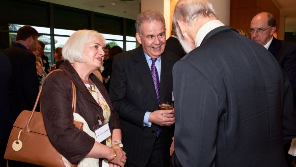 Prince Michael of Kent and Rt.Hon Julian Lewis and his partner Fiona Vandersluys