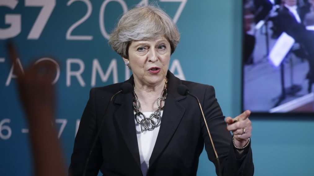 British PM May could lose majority in June 8 election: YouGov projection