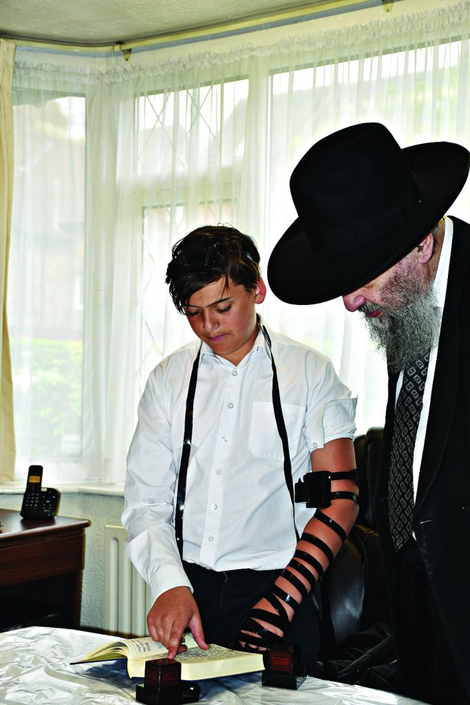 Nathan with Rabbi Shlomo Angel