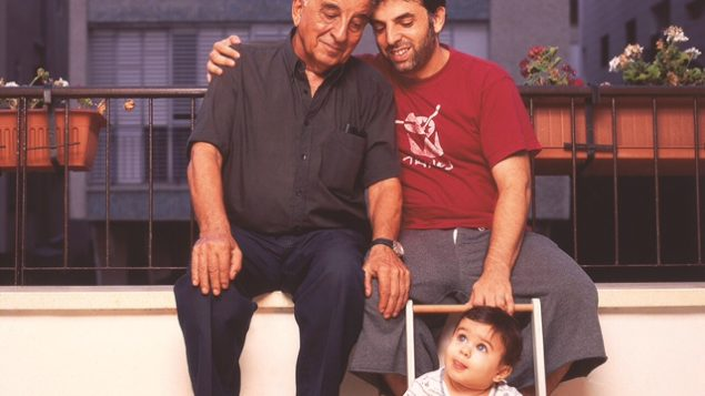 Keret with his father Efraim, who died a few years ago, and son Lev, in a photo from 2006. Jonathan Bloom
