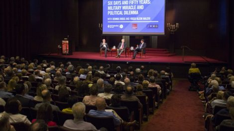 Yossi Klein Halevi, Ambassador Dennis Ross, and Eric Goldstein discuss the Six-Day War fifty years on at The Jewish Week/UJA Fed. NY event on Thursday, May 18. Judah S. Harris/JW