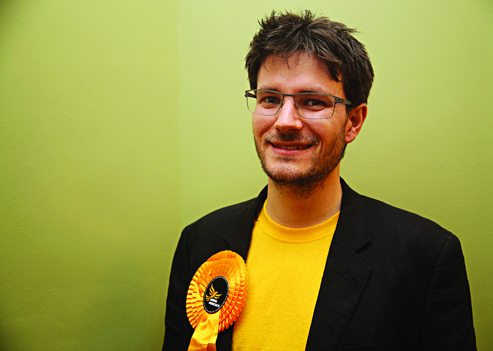 Joe Jordan of the Liberal Democrats is looking to challenge both the Tories and the opposition for votes