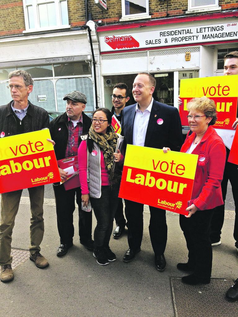 Jeremy Newmark with campaigners in Finchley and Golders Green