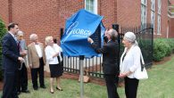 News-Temple Unveiling - Rabbi Berg, Rabbi Sugarman, Tony and Jackie Montag, WTG, and Mrs. Rothschild (2)