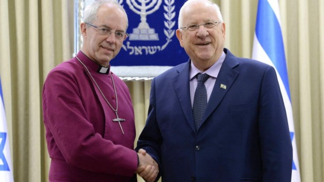 Pres. Rivlin & Archbishop of Canterbury Welby