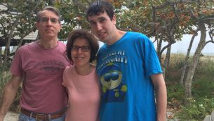Sam Busis with his parents