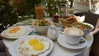 Israeli breakfast served at Café Café