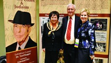 Nita Lowey, Chaim Chesler and Sandy Cahn at the Cohen exhibition