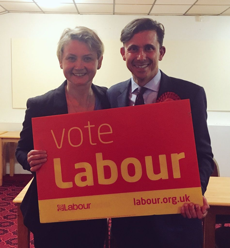 Yvette Cooper with Mike Katz