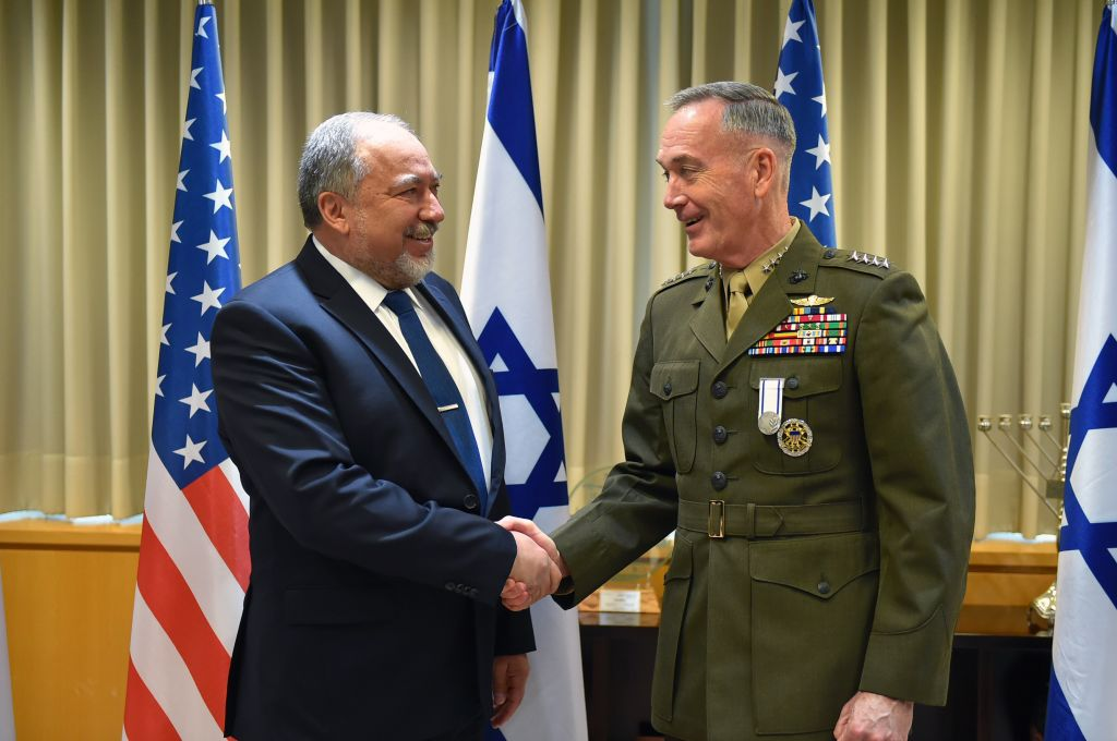 US Military Leader Dunford Visits Israel for High-Level Security Talks
