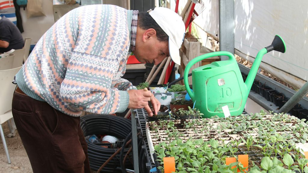 The garden's Reut project supports adults suffering from mental illnesses. (Shmuel Bar-Am)