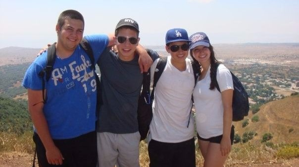 Ben Platt (second from left) with friends on Ramah Israel Seminar, 2009. (Facebook)