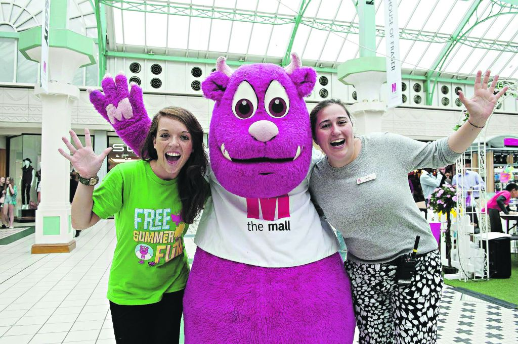 Children and adults help raise money for Great Ormond Street Hospital and local children's charities at shopping centres across the country