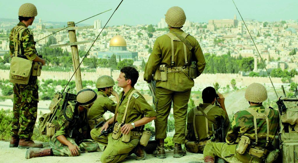 A filmed scene from 'In Our Hands,' the Christian Broadcasting Network docudrama about the Six-Day War (Courtesy CBN)