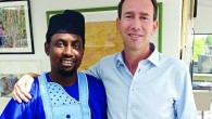 Trevor Pears with Rilwan Raji, who studied at Hebrew University thanks to the Pears Foundation