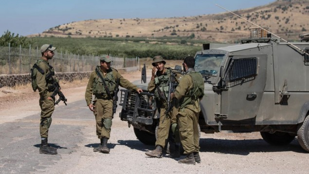 Israeli soldiers in the Golan Heights    Photo by: Ayal Margolin- JINIPIX