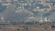 Smoke rise from Syrian village as a result of fighting near the city of Quneitra, in the Golan Heights,   Photo by: Ayal Margolin- JINIPIX