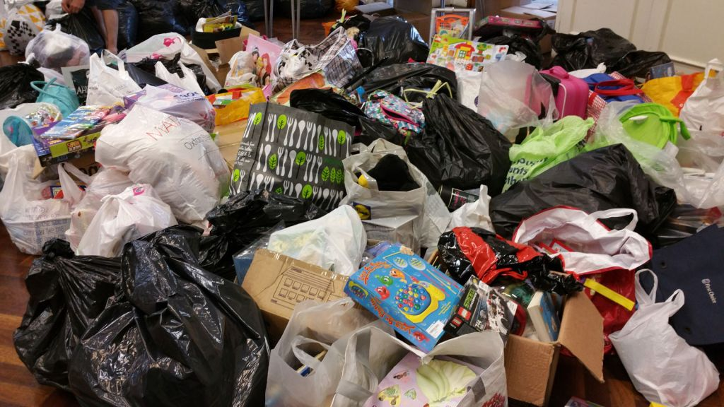 Items donated to the Grenfell fire relief effort