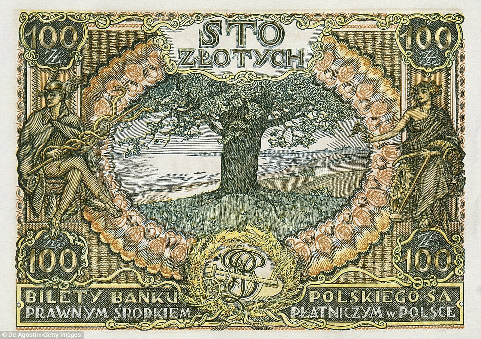 Polish bank note features the Oak that sheltered Jews in the Shoah