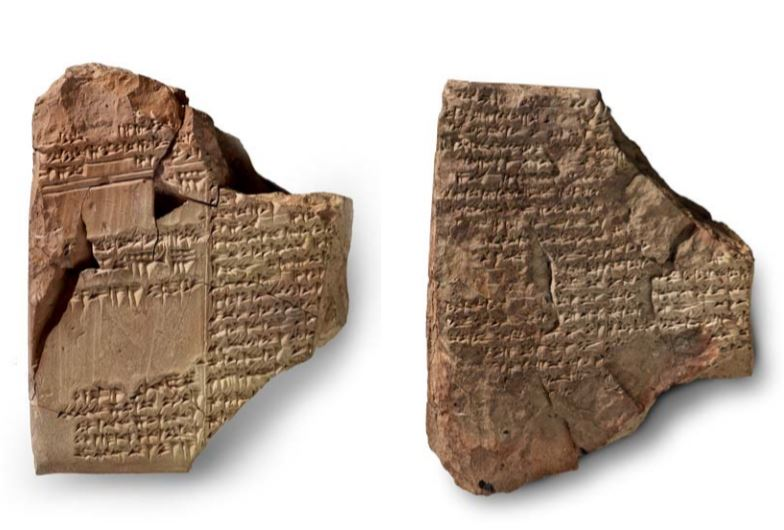 Tablet Inscribed with a Fragment of the Babylonian Flood Story Epic of Atrahasis in Akkadian, Mesopotamia, First Dynasty of Babylon, reign of King Ammi-saduqa (ca. 1646–1626 BCE) (The Morgan Library & Museum)