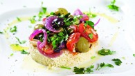 Cous cous & Olive salad with Halloumi cheese 3c