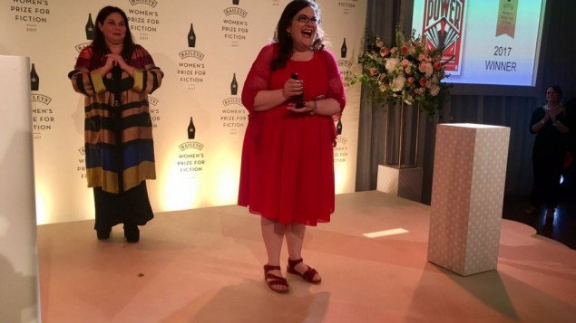 Naomi Alderman accepting the award