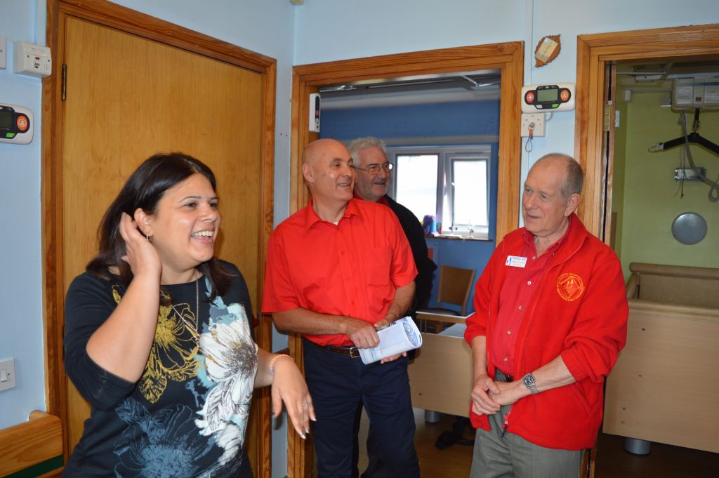 Three committee members of the LTFUC, Hon. Secretary Malcolm Shaffron, PR Raymond Levy and Appeals Officer Colin Greaves took a tour of the home on Wednesday to see what their donation had paid for, as well as taking a tour of the service and meeting home manager Annette Shimoni.