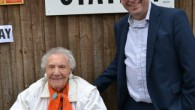Rose pictured with Jewish Care Chief Executive, Simon Morris outside the polling station