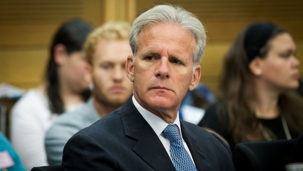 Kulanu MK Michael Oren who would later that year be appointed as Deputy Minister in the Prime Minister's office in charge of pubic diplomacy seen here
