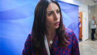 Culture Minister Miri Regev arrives at the weekly cabinet meeting at the Prime Minister's Office in Jerusalem on June 11, 2017. (Marc Israel Sellem/ Flash90)