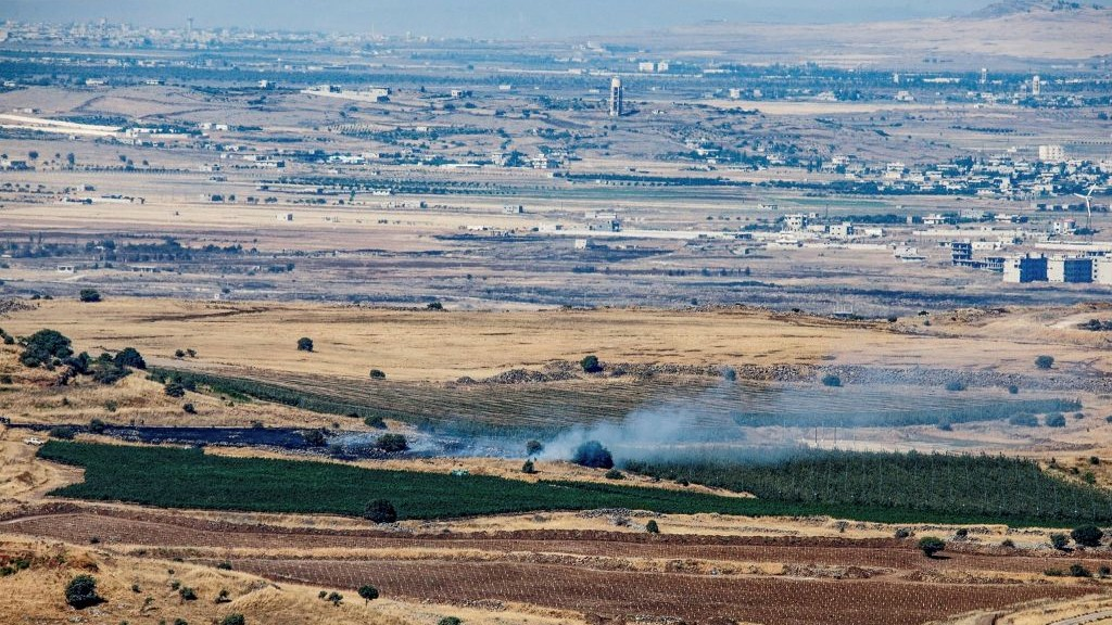 Projectile from Syria lands in Israel's Golan Heights