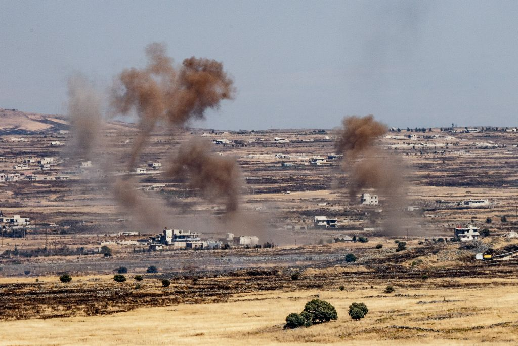 Errant Fire Lands in Golan Near PM Netanyahu