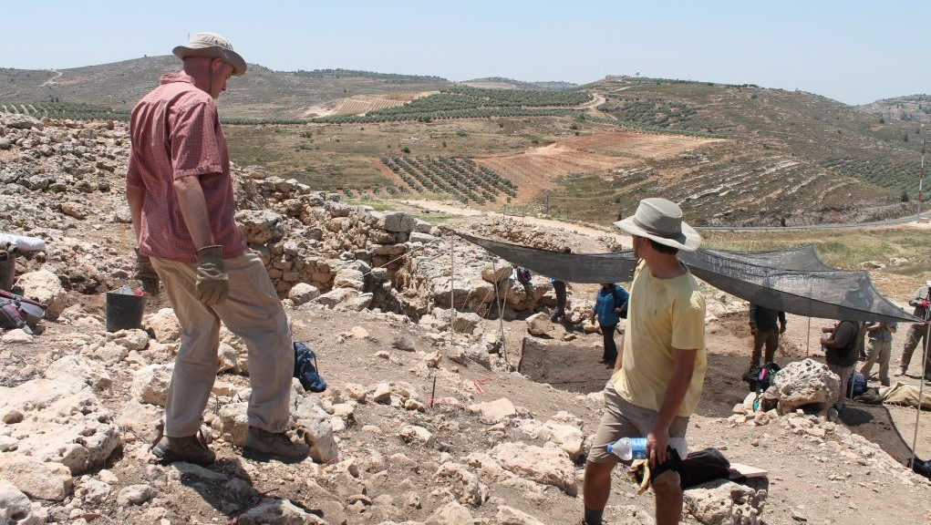 Archaeological excavations at biblical Shiloh, May 22, 2017. (Amanda Borschel-Dan/Times of Israel)