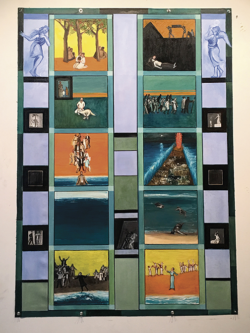 "Richard McBee, ""Exodus Redux."" These two sets of doors show the Exodus in 10 images."
